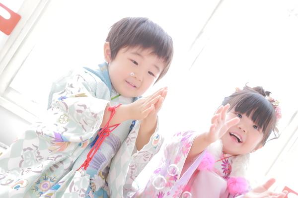 弥彦神社で七五三詣り